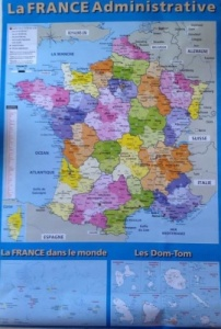 Carte de France / French map  61x 91.5cm