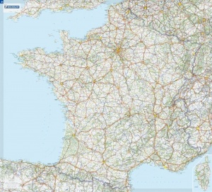 Carte de France plastifi�e / Laminated map of France