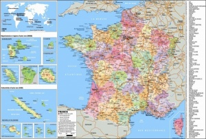 Sous-main Carte de France
