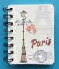 Paris hardback wire bound notebook