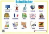 German School subjects wall chart / Schulfächer