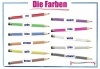 German colours wall chart  / Die Farben