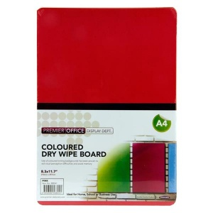 Red dry wipe board