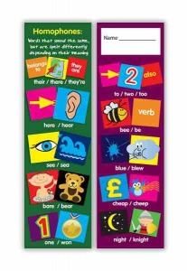 Homophones bookmark