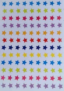 Stars sticker sheet