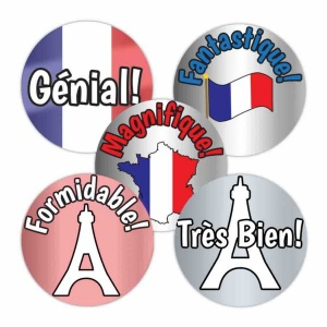 French praise metallic variety sticker