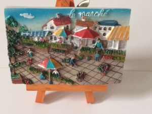 Le marché (Légumes) Mini painting with easel