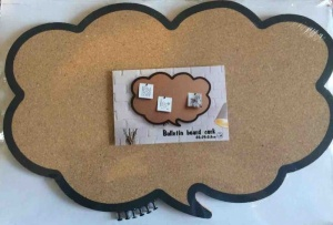 Speech bubble cork bulletin board cloud shape