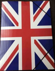 United kingdom flag folder