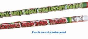 Happy Christmas from your teacher pencil