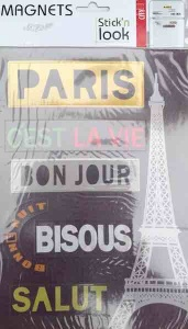 Paris Magnet sticker (Black)