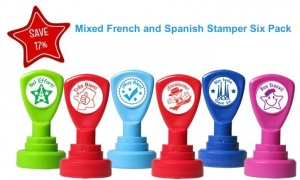 French & Spanish  stamper 6 pack