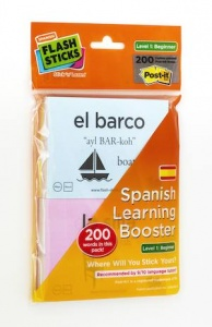 Flash Sticks Spanish Beginners level