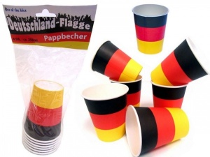 German flag paper cups