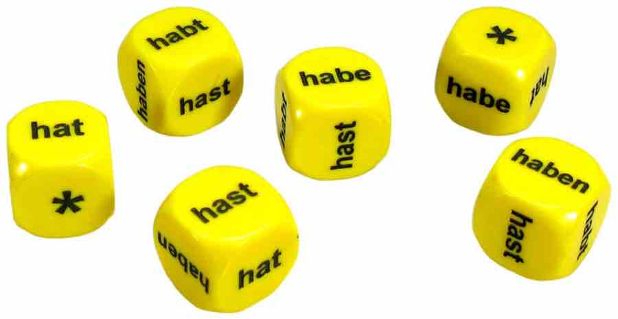 Set of 6 German Haben Dice