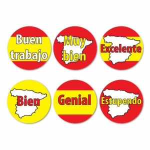 Spanish colours stickers