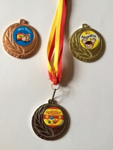 Spanish reward medal gold, silver and bronze