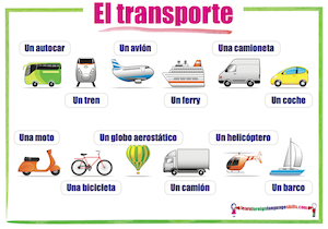 Spanish transport El transporte