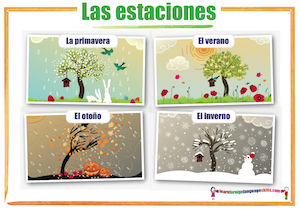 Spanish seasons Las estaciones