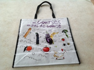 French shopping bag ''Les courses au pas de course