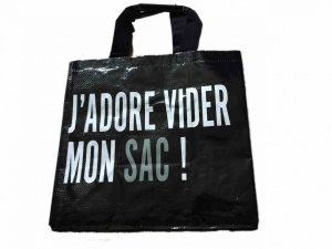 J'adore vider mon sac! shopping bag