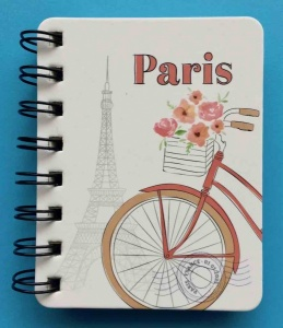 Paris  hardback notepad wire bound
