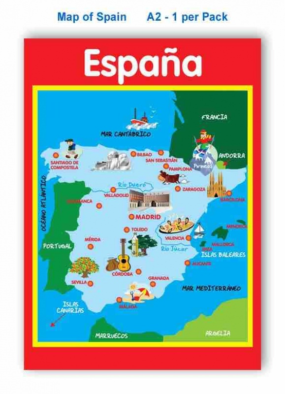 Language Map Of Spain.Map Of Spain