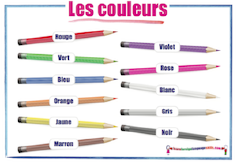learn foreign language skills french colours les couleurs