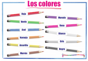 Spanish colours Los colores