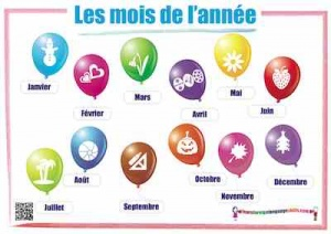 French Months - Les mois
