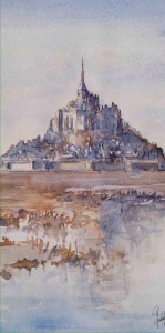 Mont Saint Michel (blue tone)