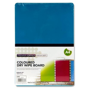 Blue dry wipe board