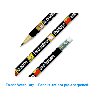 French Classroom vocab reward pencil