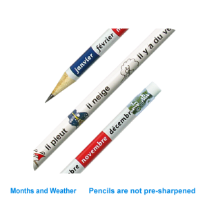 French months & weather reward pencil