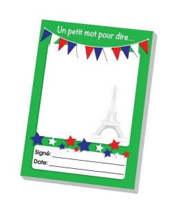 French praise notepad
