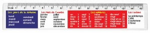 French days , months & numbers ruler