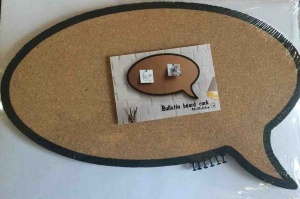 Speech bubble cork bulletin board oval
