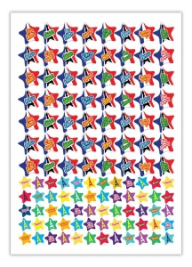 French stars bumper sticker sheet