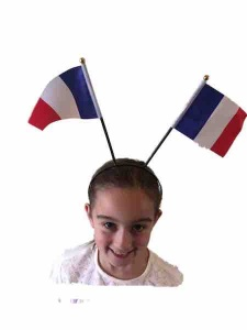 French flag head band