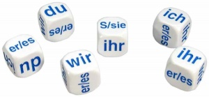 Set of 6 German Pronoun Dice