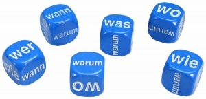 Set of 6 German Question Dice