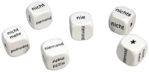 Set of 6 German Negatives Dice