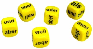 Set of 6 German Conjunctions Dice