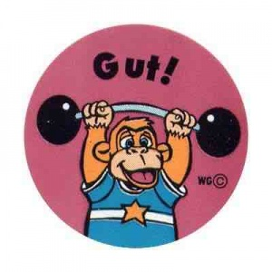 Gut monkey sticker sheet
