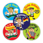 German variety sticker sheet