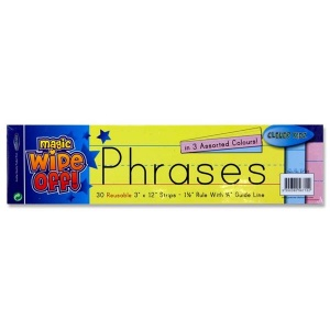 Dry wipe phrase strips