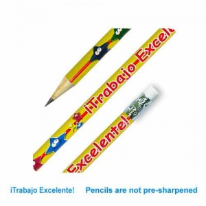 Trabajo Excelente Spanish reward pencil