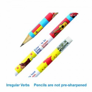 Spanish verbs pencil