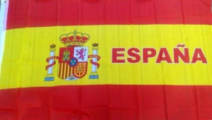 Spanish flag with España