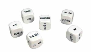 Set of 6 Spanish Negatives Dice